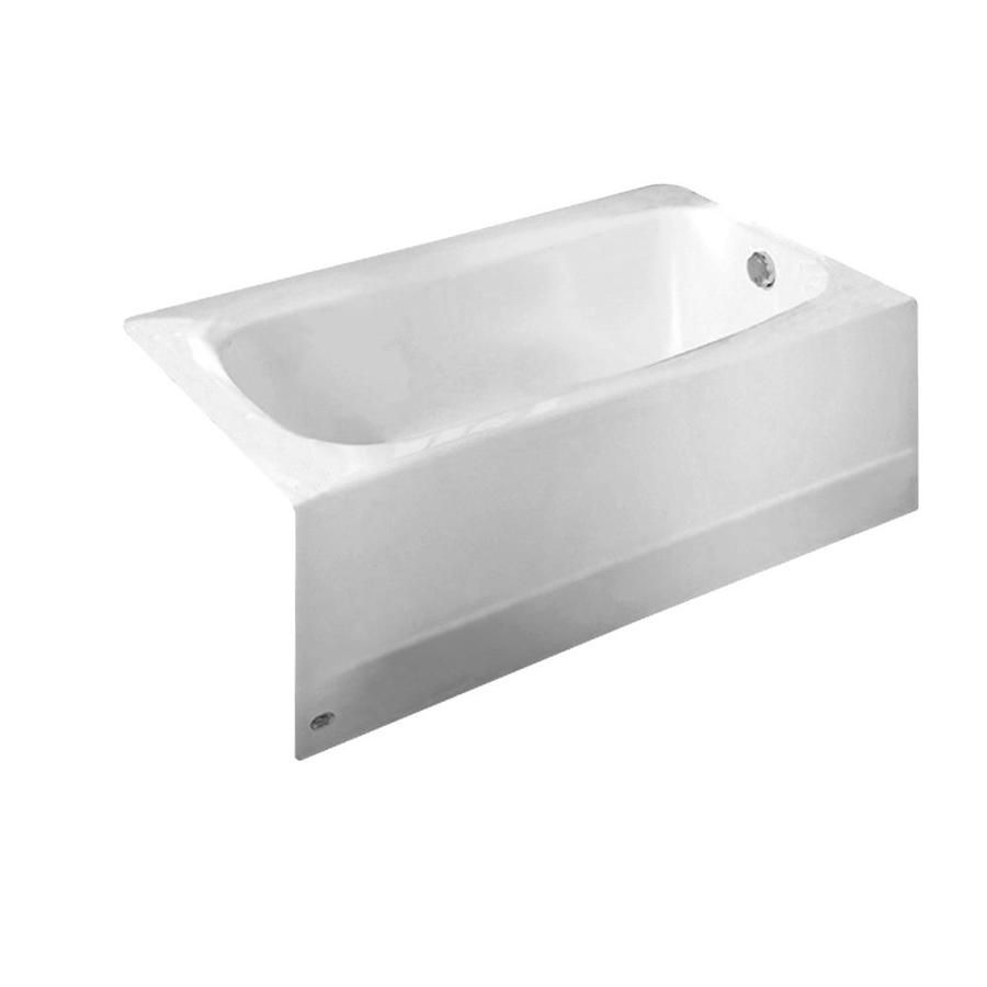 American Standard Cambridge 60 In White Reinforced Porcelain Enamel Metal Oval In Rectangle Right Hand Drain Alcove Bathtub Lowes Com Soaking Bathtubs Tub Cover Manufactured Home