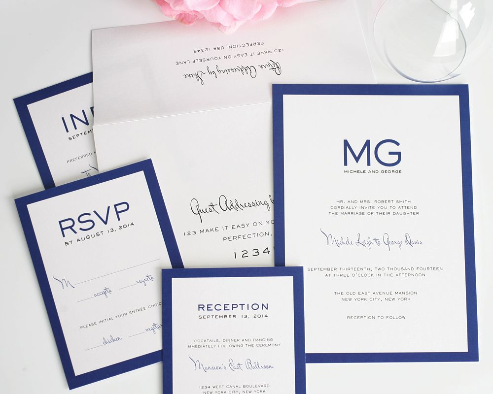 Modern Luxe Wedding Invitations | Luxe wedding, Weddings and Event decor