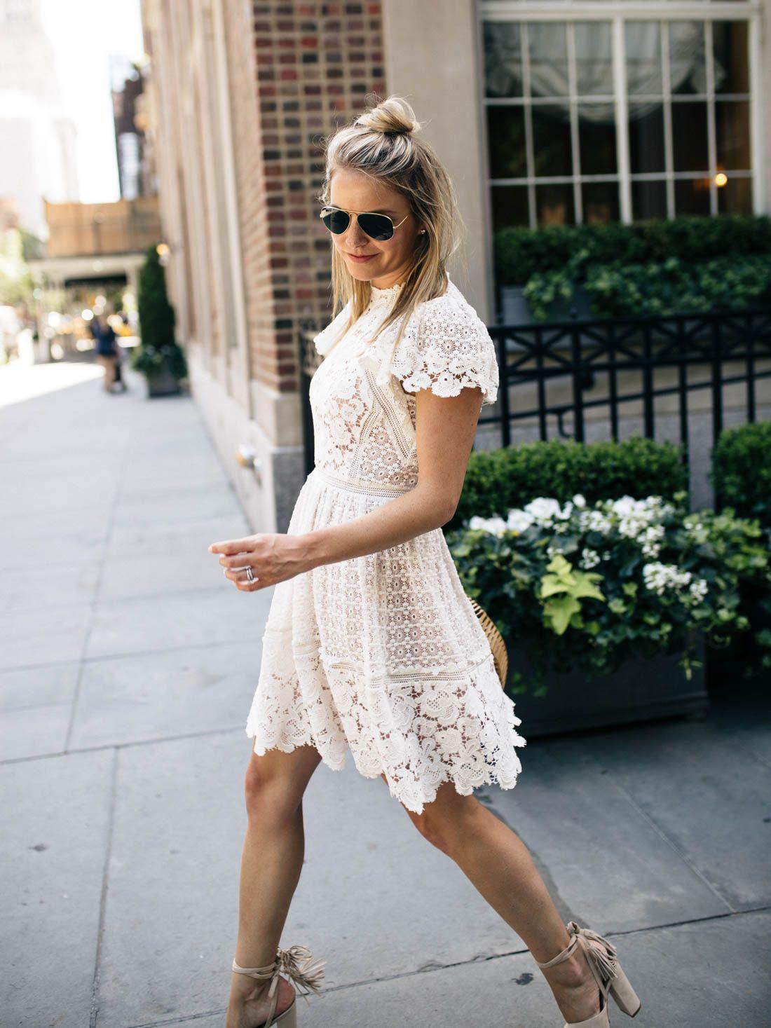 White Lace Dress // Bridal Shower Dress | FASHION LOVE | Pinterest ...