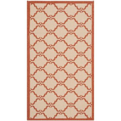 Safavieh Courtyard Beige Terracotta 2 Ft X 4 Ft Indoor Outdoor Area Rug Indoor Outdoor Area Rugs Outdoor Area Rugs Indoor Outdoor