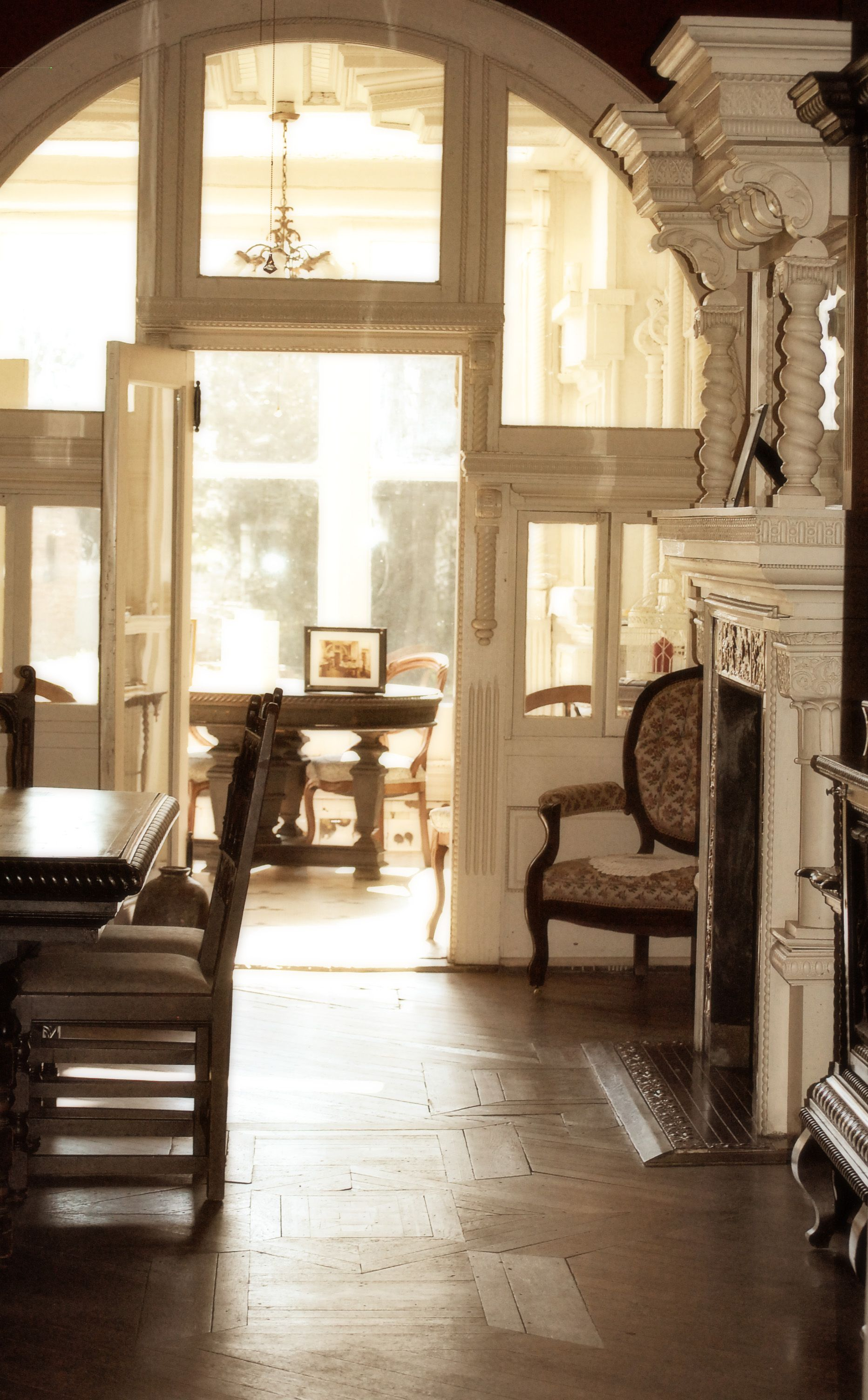 dining room and breakfast room at historic house Korner\'s Folly ...