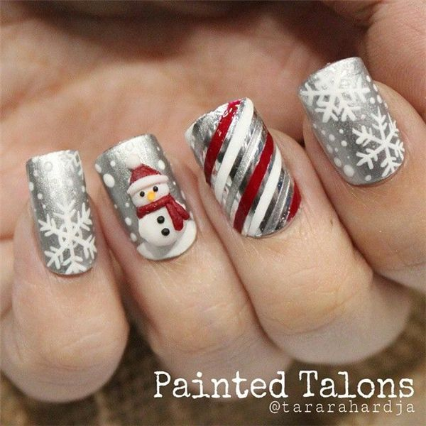 16 Winter Nails To Bundle Up With Nails Pinterest Christmas