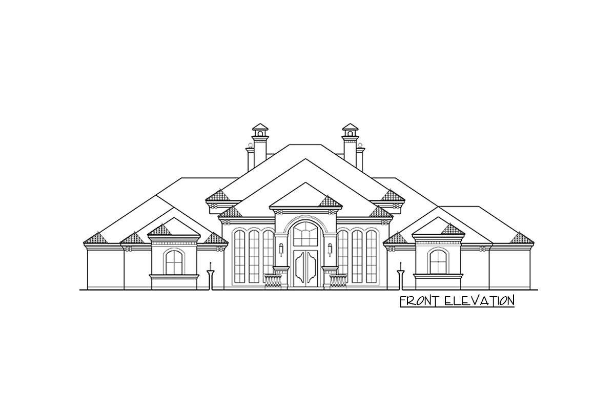 Plan Tx 4 Bed House Plan With Elegant Motor Court