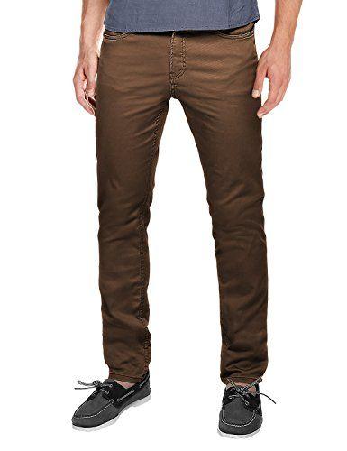 ee7eb67d89 Match Men's Slim Fit Straight Leg Casual Pants(29, 8032 Dark brown ...