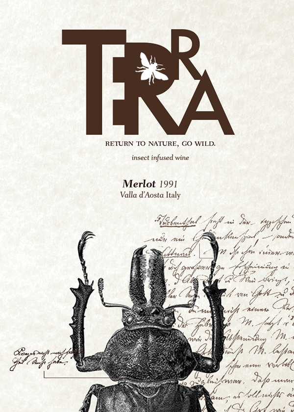 Terra Wine | Insect Infused Wine by Jhulisabel Feliz, via Behance