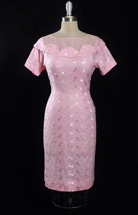 Vintage 50s Dress / 1950s Wiggle Sundress by GeronimoVintage