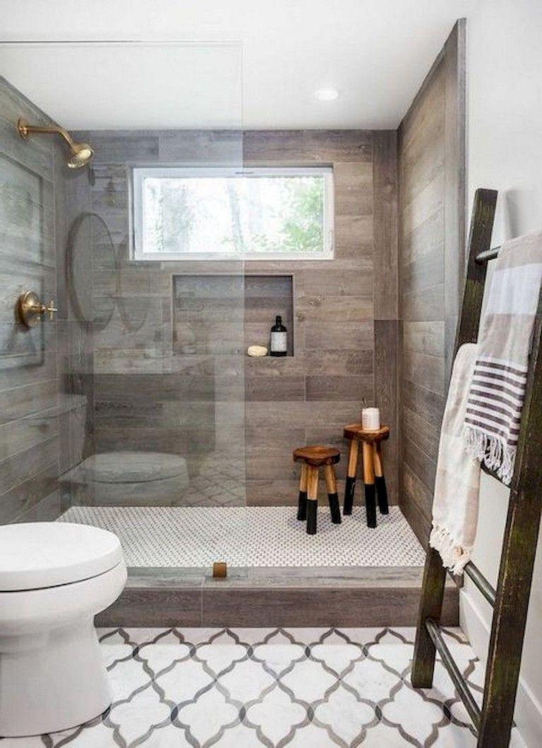 90+ Awesome Farmhouse Bathroom Decor Ideas #bathrooms #bathroomdecor
