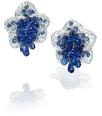 Blue Sapphire Briolette Flower Earrings | Cellini Jewelers