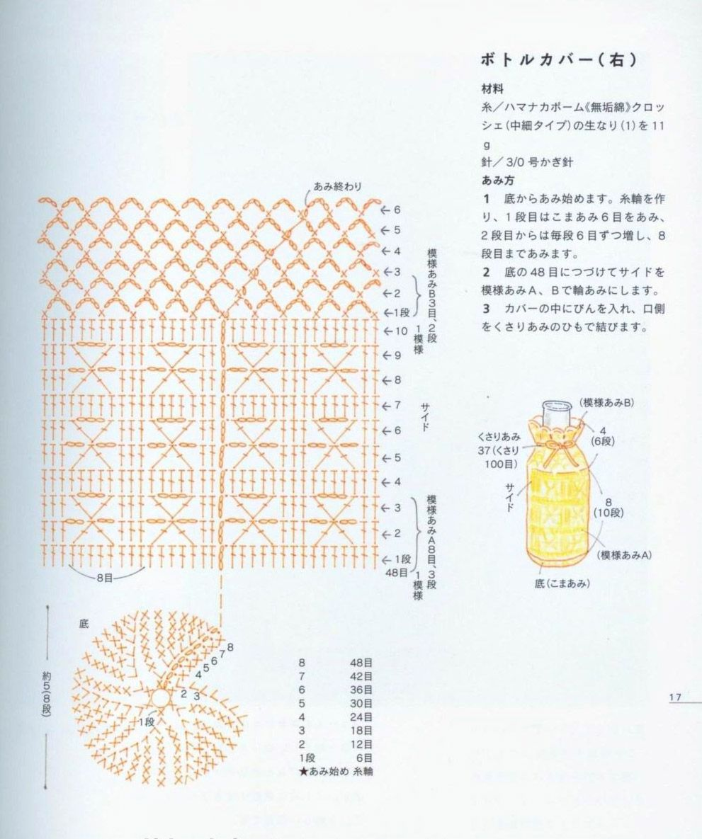 Patrones Crochet: Fundas de Crochet para Botellas | Crochet ...