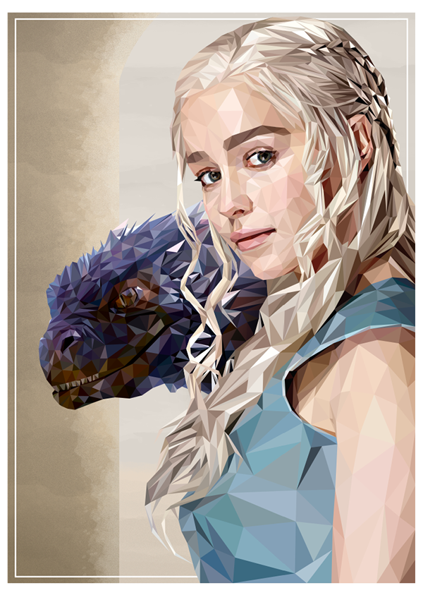 Mother of Dragons - Commission work by Simon Delart, via Behance