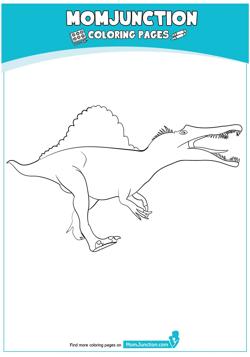 Spinosaurus Coloring Pages Mom Junction Color