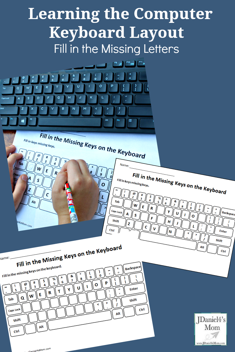 medium resolution of Children at home and students at school can used this free set of printable  keyboards to learn where the letters of the …   Keyboarding