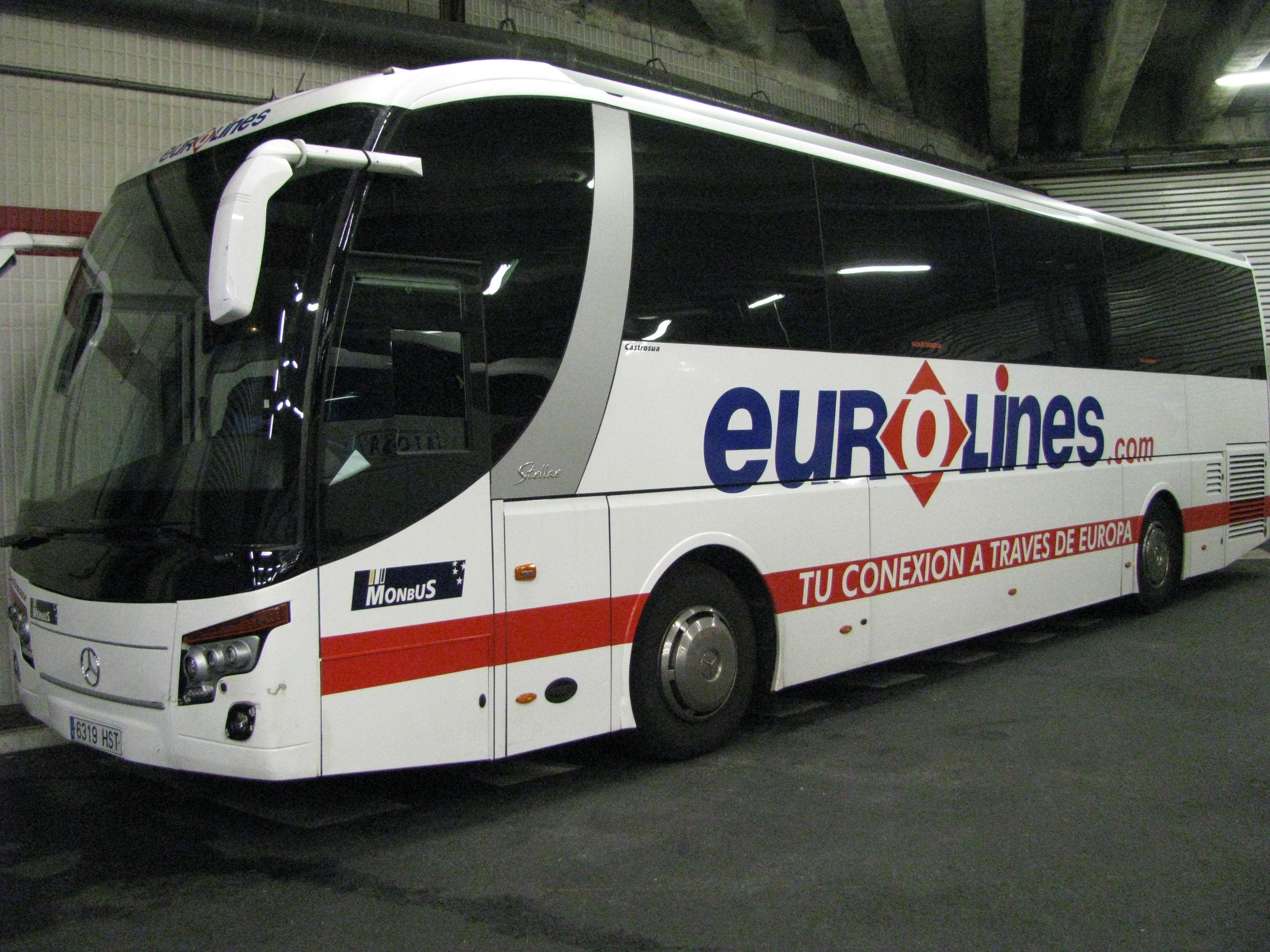 Eurolines Bus At Paris Station