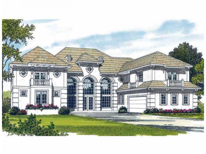Mediterranean Style House Plan 4 Beds 5 5 Baths 8068 Sq Ft Plan 453 380 Mediterranean Style House Plans House Plans Luxury Plan