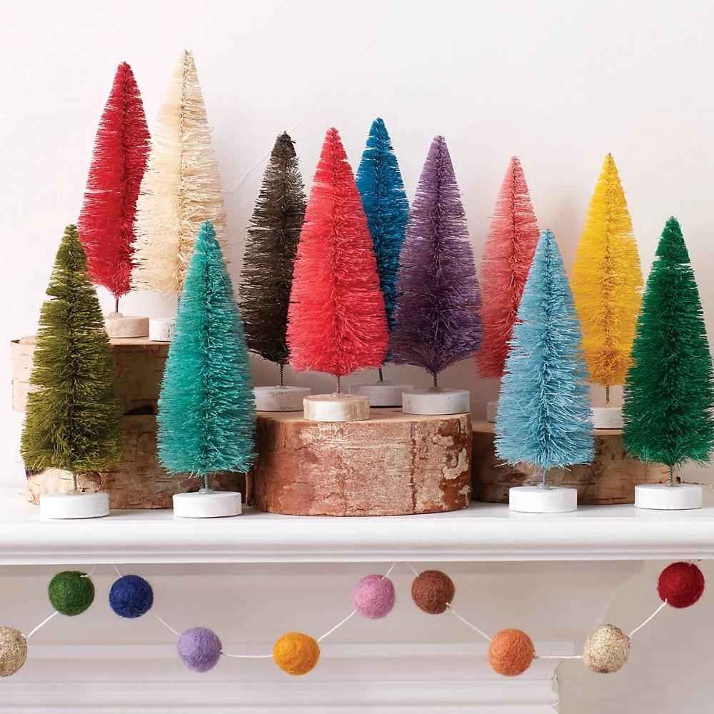 Spectrum Pom Garland In 2020 Bottle Brush Christmas Trees Christmas Tree Garland Bottle Brush Trees
