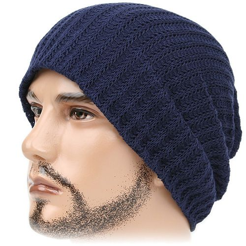 8e3e231f4 beanie with a rim | Beanie Waffle Navy Blue Stripe Skull Knit Head ...