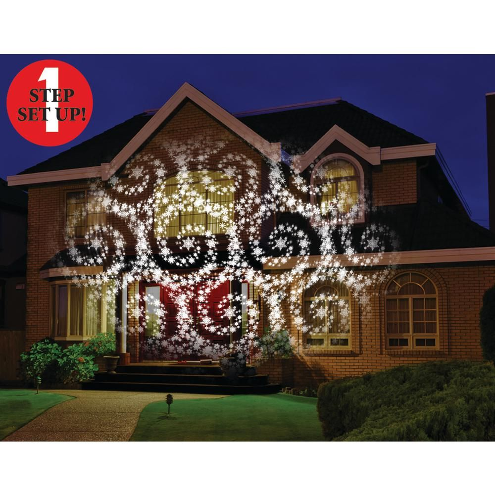 Mr Christmas Cascading Motion Projector With 20 Slides Homedepot