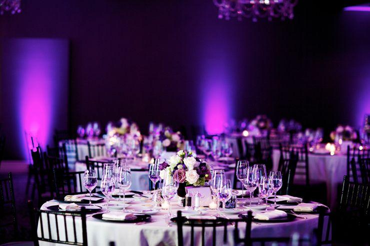 Purple Wall Wash Lighting Wedding
