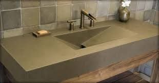 Modern Quartz Countertop With Integrated Sink Powder Room