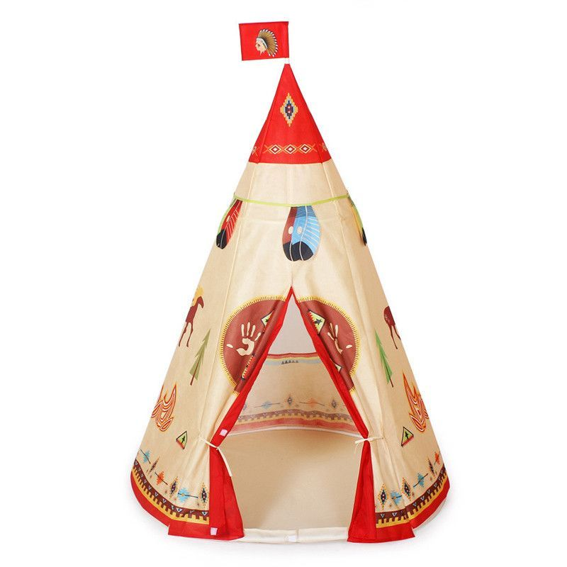 Indian Pattern Children Toys Teepee Safety Portable Playhouse Kids Indoor Game Room Outdoor Tourist Baby Playpen Tents Corralito