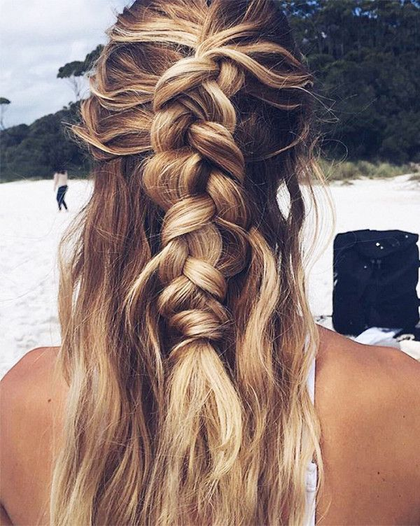 9 5 minute hairstyles for long hair french braid hair style and 9 5 minute hairstyles for long hair pmusecretfo Choice Image