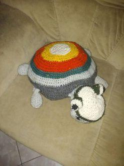 Tortuga amigurimi en técnica crochet