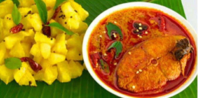 Kappa...with meen curry...