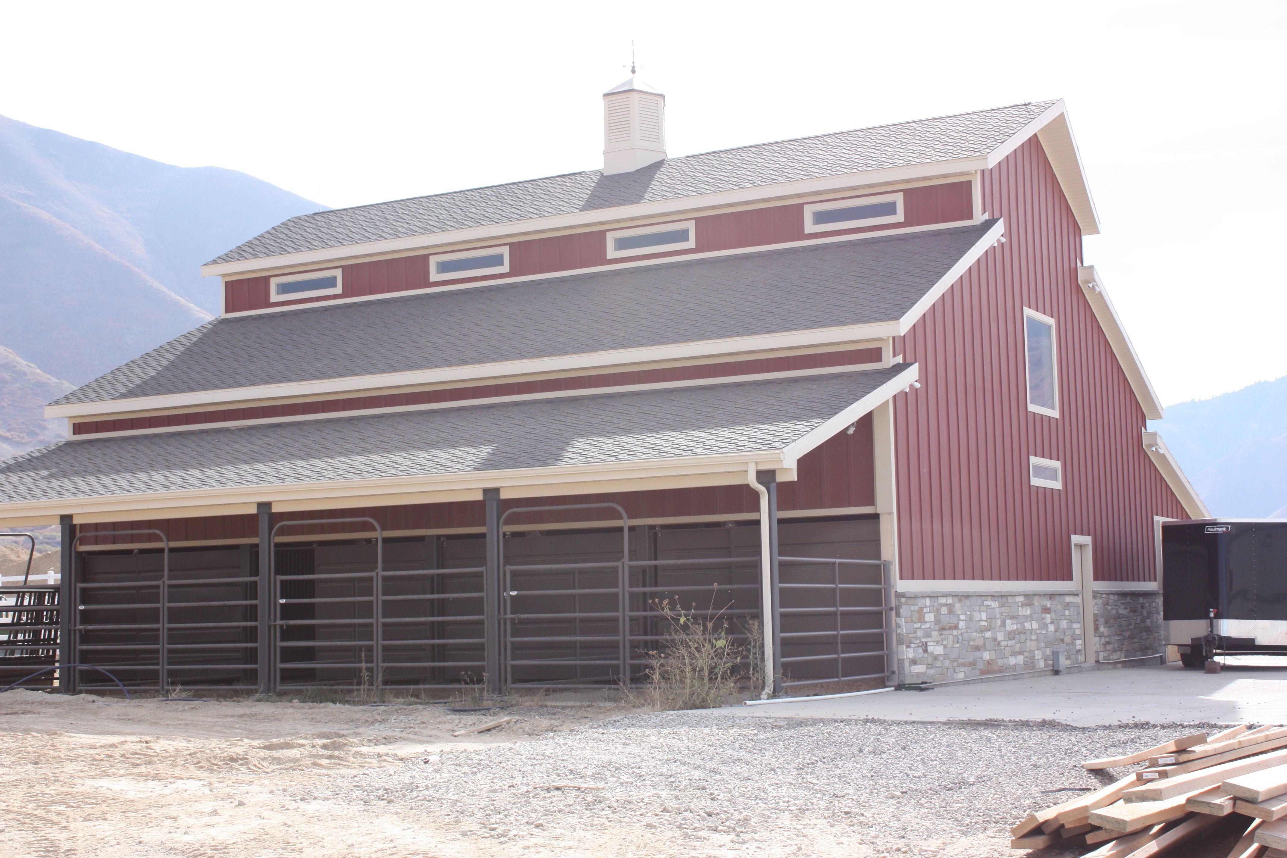 Framing done by Ashley Construction. Cute Red Barn! Mapleton, UT ...