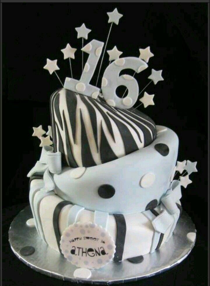 Bonbon 16 Geburtstags , Geburtstagswünsche, 16 Geburtstagskuchen, 16.  Geburtstag, Sweet 16 Kuchen, Bastelideen, Kreativen Kuchen, Schöne Kuchen,  ...
