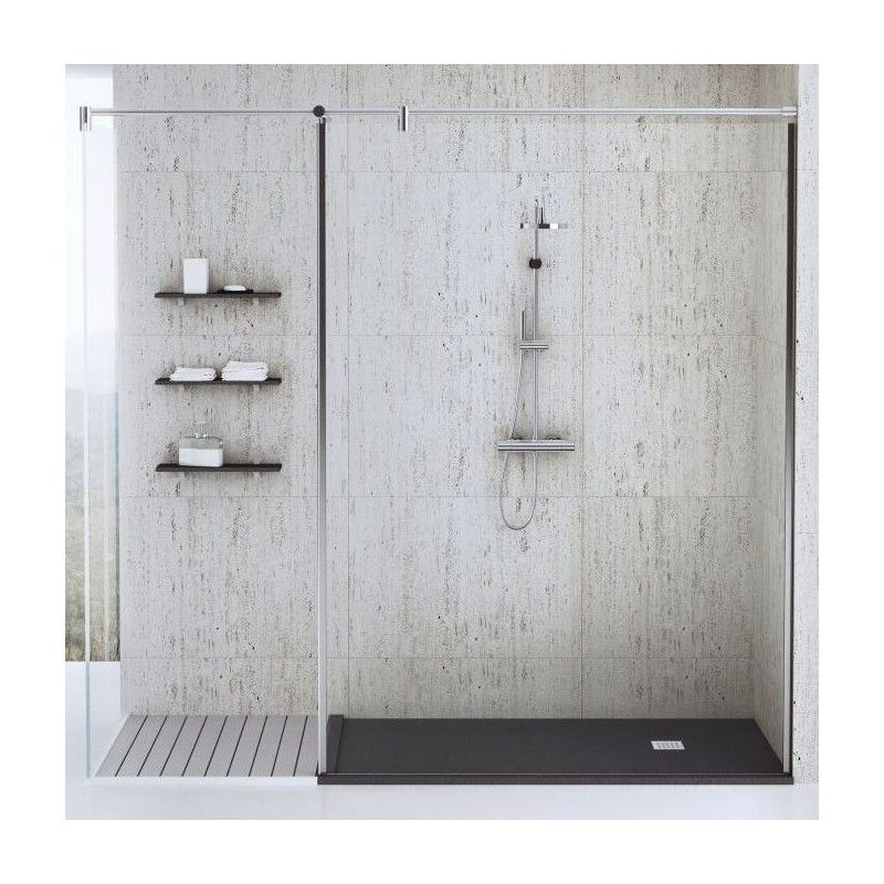 Shower Tray Fiora Silex Custom Sized With Borders