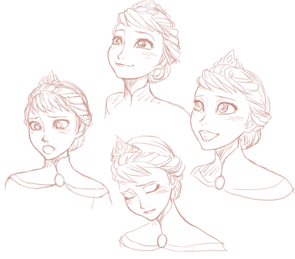 Queen Elsa Sketches Frozen drawings, Sketches, Drawings