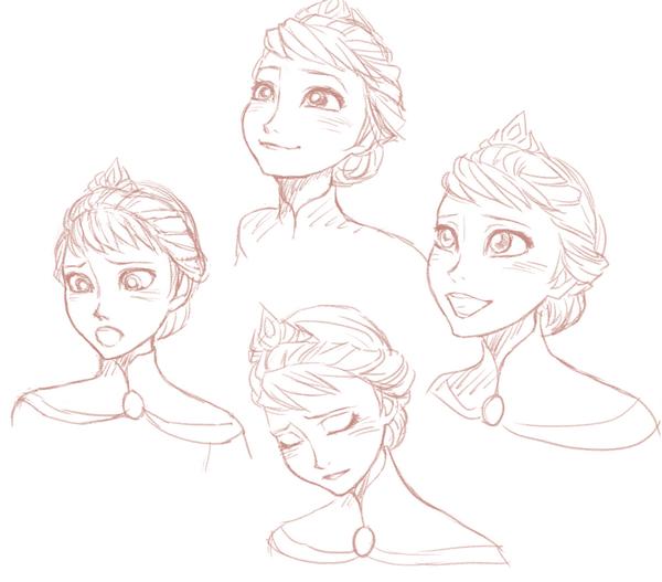 Queen Elsa Sketches Frozen drawings, Sketches, Drawings