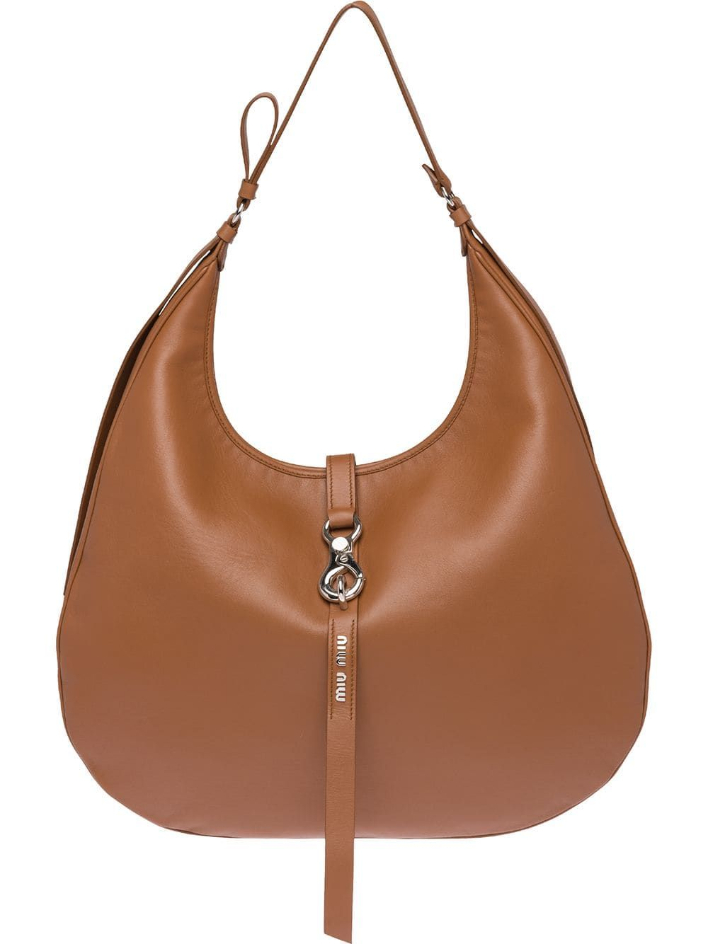 Miu Miu Leather Hobo Bag Farfetch Leather Hobo Bag Brown Leather Hobo Hobo Bag