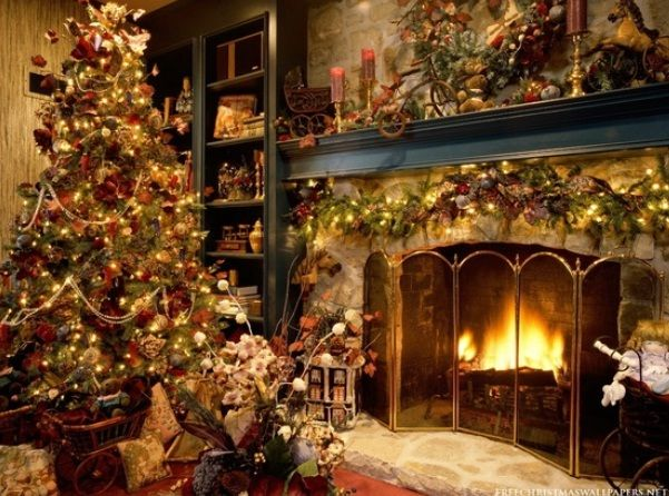 Holiday Mantel Christmas Fireplaces Decoration Ideas | Christmas ...