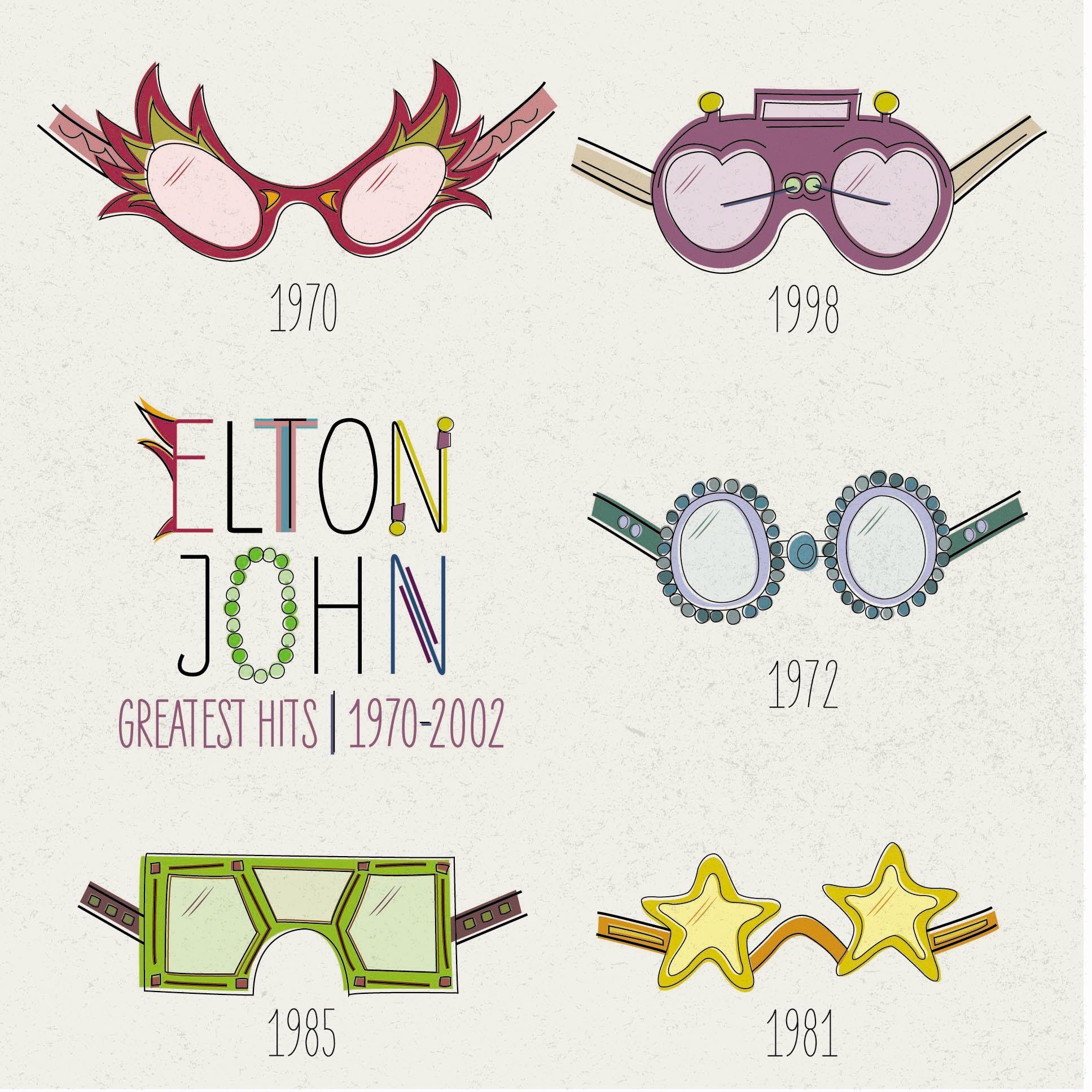 Vinyl Album Redesign For Elton John S Greatest Hits 1970