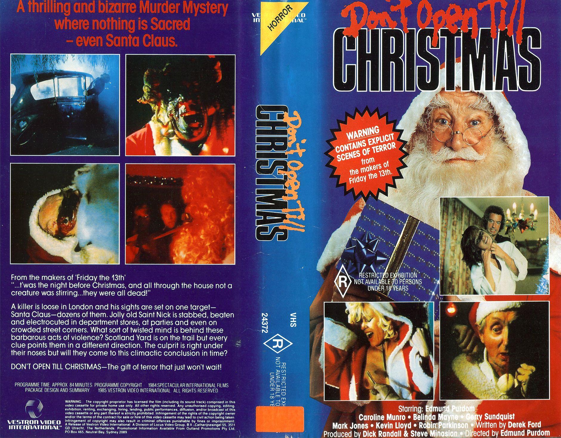 Dont Open Till Christmas.Don T Open Till Christmas Vhs Slasher Christmas Uk The
