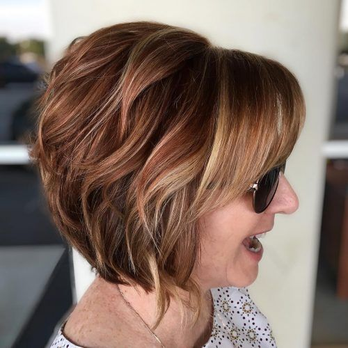 46 Cute Bob Haircuts With Bangs To Copy In 2020 Stacked Bob Hairstyles Stacked Bob Haircut Angled Bob Hairstyles