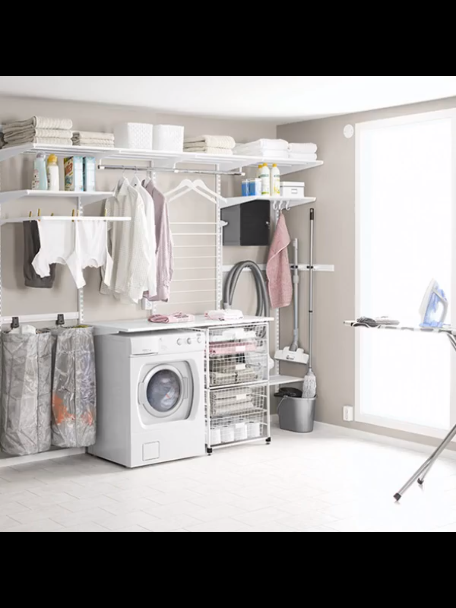 Mauvaise Odeur Armoire Linge pinlivin'g on organize | modern laundry rooms, ikea