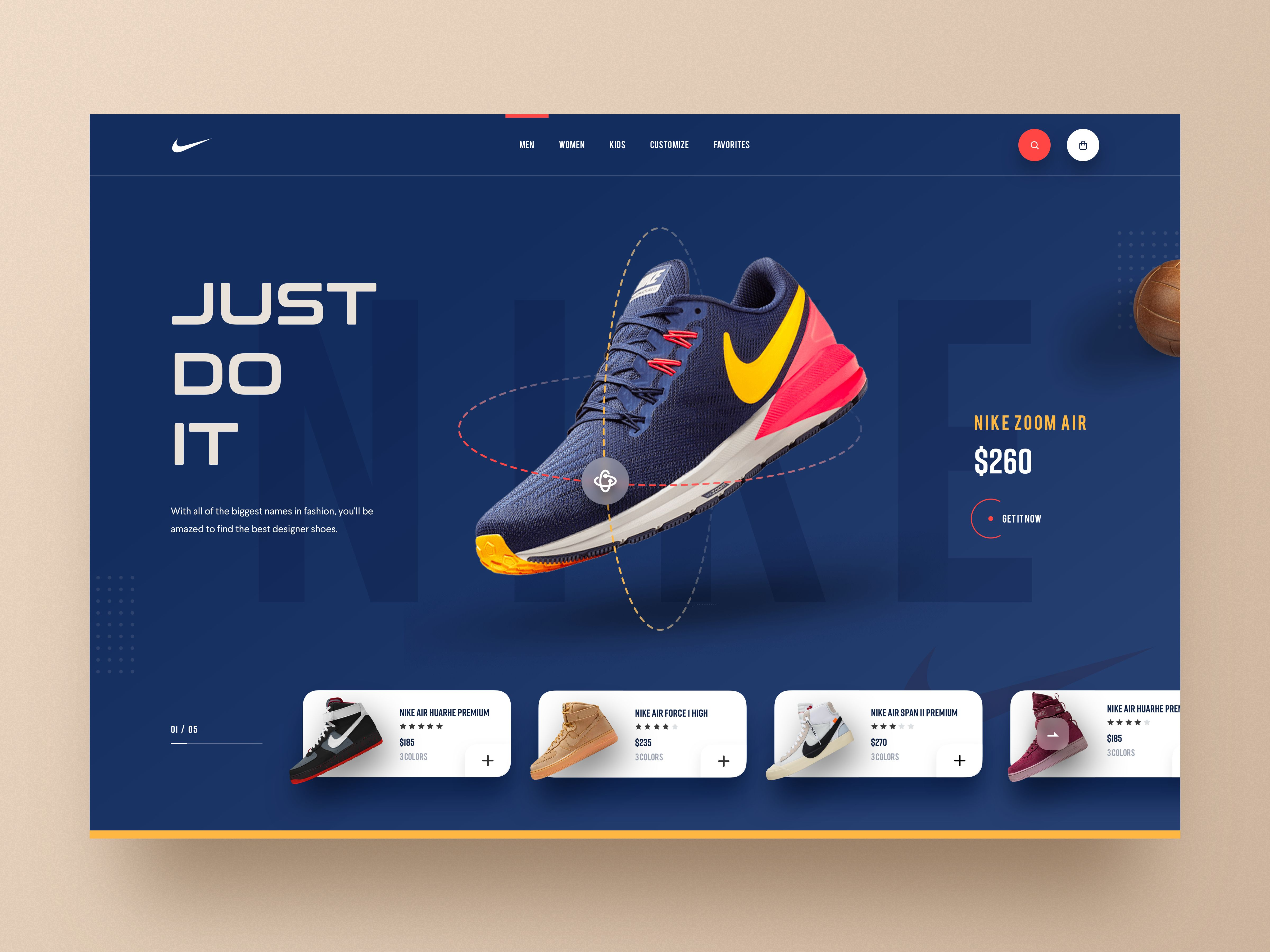 Website design, Web design, Nike website