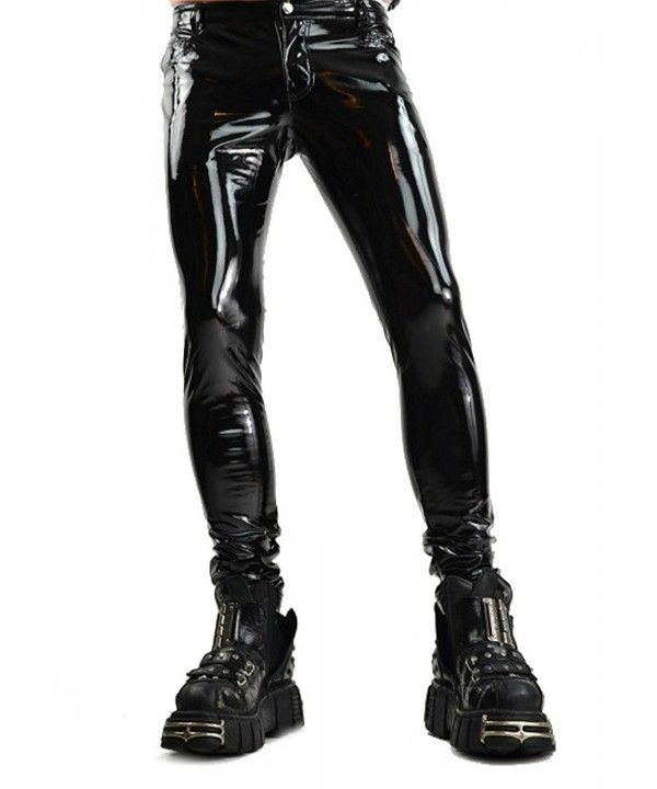 7e6fa4cee05 Men s Custom Made Vinyl Jeans style pants by Suzi Fox shown in Stretch Gloss  Red Vinyl coated Nylon Spandex