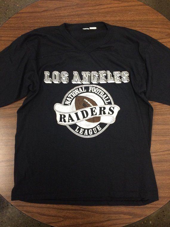 Rare Vintage 80s Los Angeles Raiders Nfl T Shirt In 2020 Nfl T Shirts Raiders Shirts