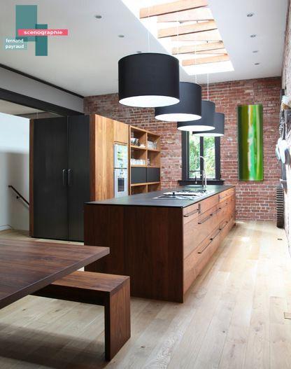 scénographie oeuvre d'art   B_indoor   www.b-indoor.com/ #decoration #design #agencement #contemporain #art #mobilierdesign #amenagement #plans #scénographies #cuisine #kitchen
