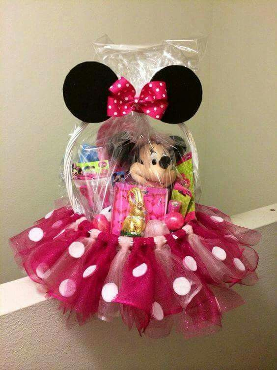 Minnie basket crafts pinterest easter easter baskets and babies negle Gallery