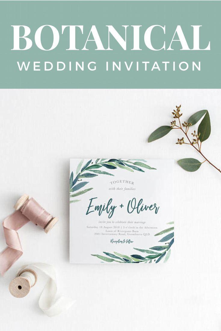 Printable Wedding Invitation Fun Modern Wedding Wedding
