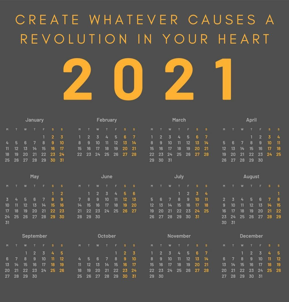 2021 Quotes Calendar Inspirational Quotes Calendar