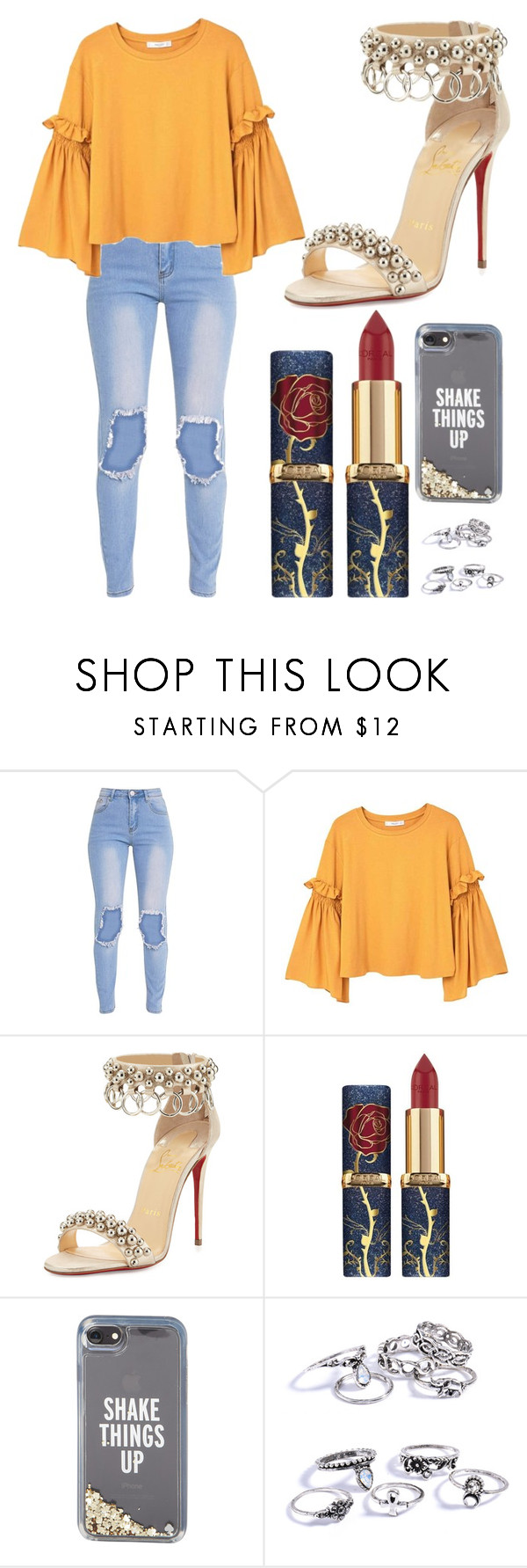"""Untitled #225"" by khyara on Polyvore featuring MANGO, Christian Louboutin and Kate Spade"