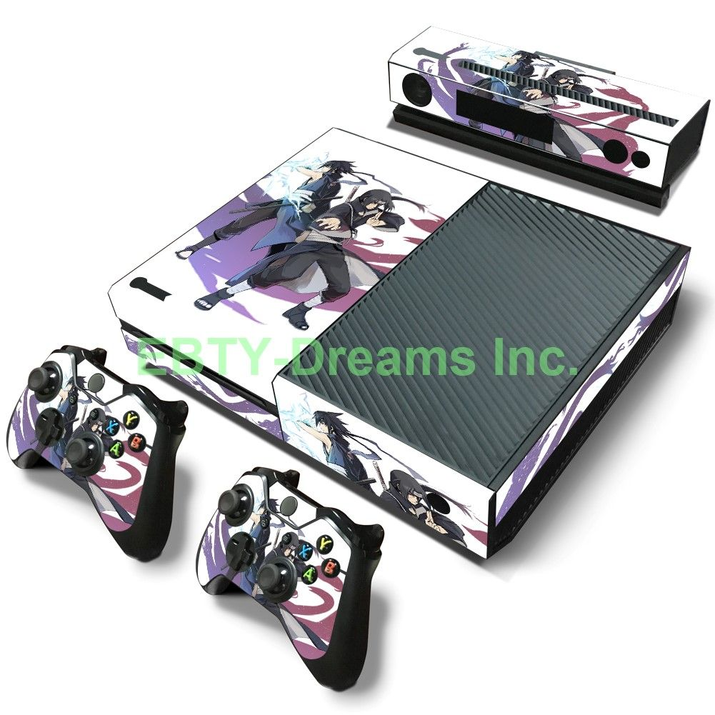 Naruto Anime Uchiha Sasuke Itachi Skin Sticker Decal Protector for Xbox One