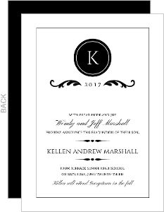 Elegant black monogram graduation announcement claires graduation elegant black monogram graduation announcement filmwisefo