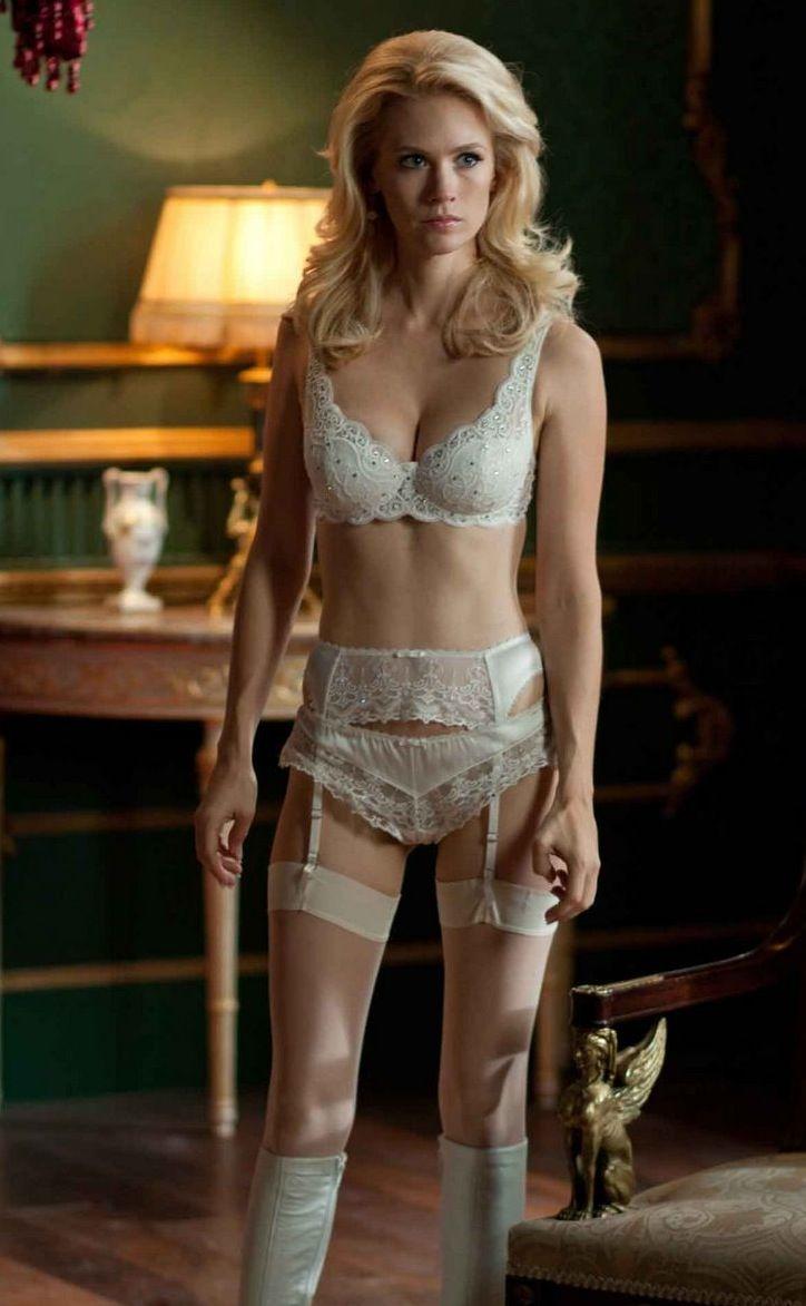 X Men First Class Emma Frost January Jones Movie Clip Photo Dress Mini Sexy Lingerie Babydoll Gaun Malam Wanita Underwear 7241173