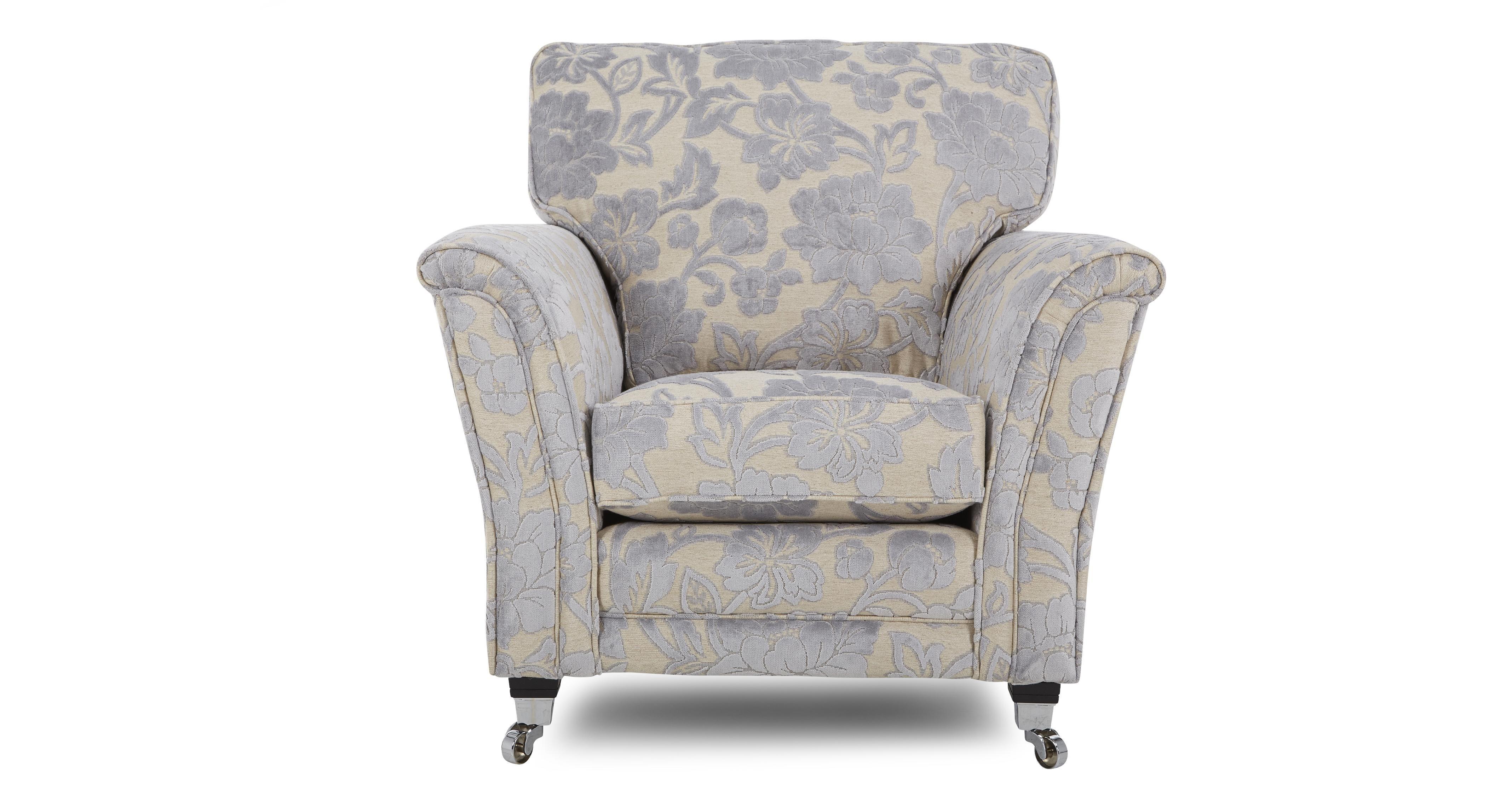 Floral Armchair | Floral armchair, Armchair, Fabric sofa